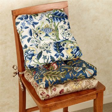 Regency Jacobean Floral Chair Cushion Set Of 2 By Waverly Floral Chair Chair Cushions Chair
