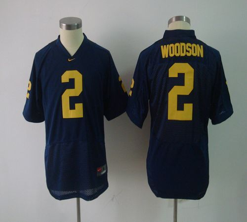 Wolverines #2 Charles Woodson Blue Embroidered Youth NCAA Jersey