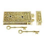 Door Latch Mortise Lock Skeleton Key Lock Antique Hardware Scroll Design Skeleton Key Lock
