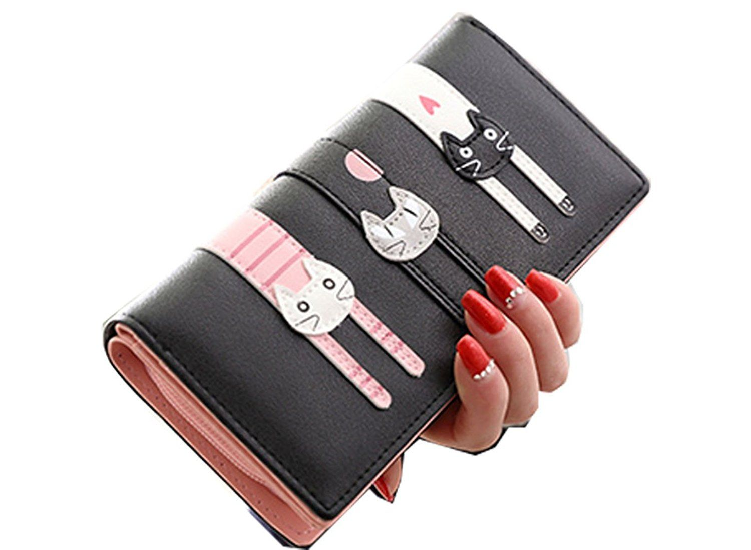 Cat Toys Christmas - Womens Girls Cute Cartoon Cat Long Wallets ( 5 Colors ) * Find out more about the great product at the image link. (This is an affiliate link)