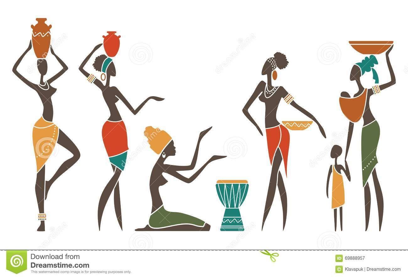 R sultat de recherche d 39 images pour dessin femme africaine art in 2018 pinterest art - Dessin africaine ...