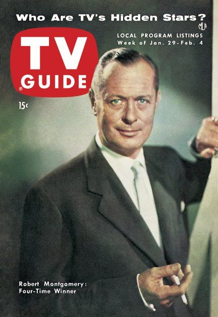 TV Guide, January 29, 1954 - Robert Montgomery