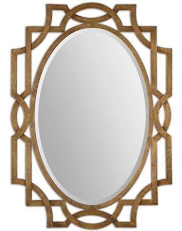 Hearth Roomentry Margutta Mirror Gold Mirror Oval Mirror - Contemporary oval mirrors