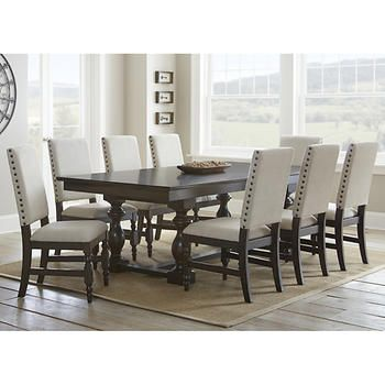 Carmel 9Piece Dining Set  Accent Chairs  Pinterest  Dining Unique 9 Pcs Dining Room Set Design Inspiration