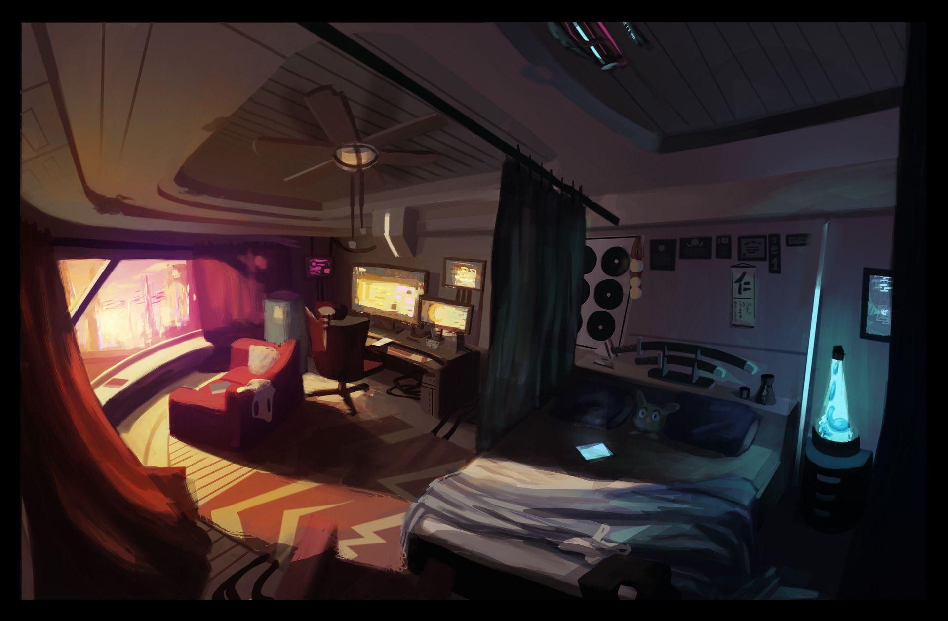 ArtStation - Elena's Bedroom, Ryan James | Cyberpunk ...