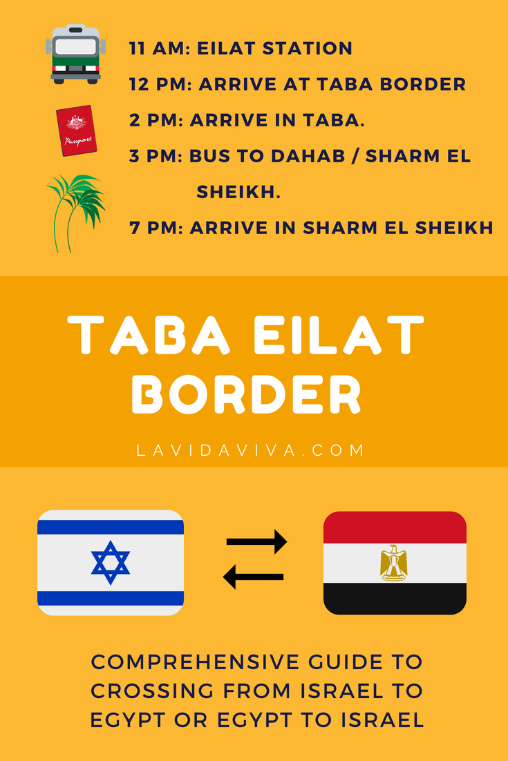 eilat taba border crossing travel between israel and egypt