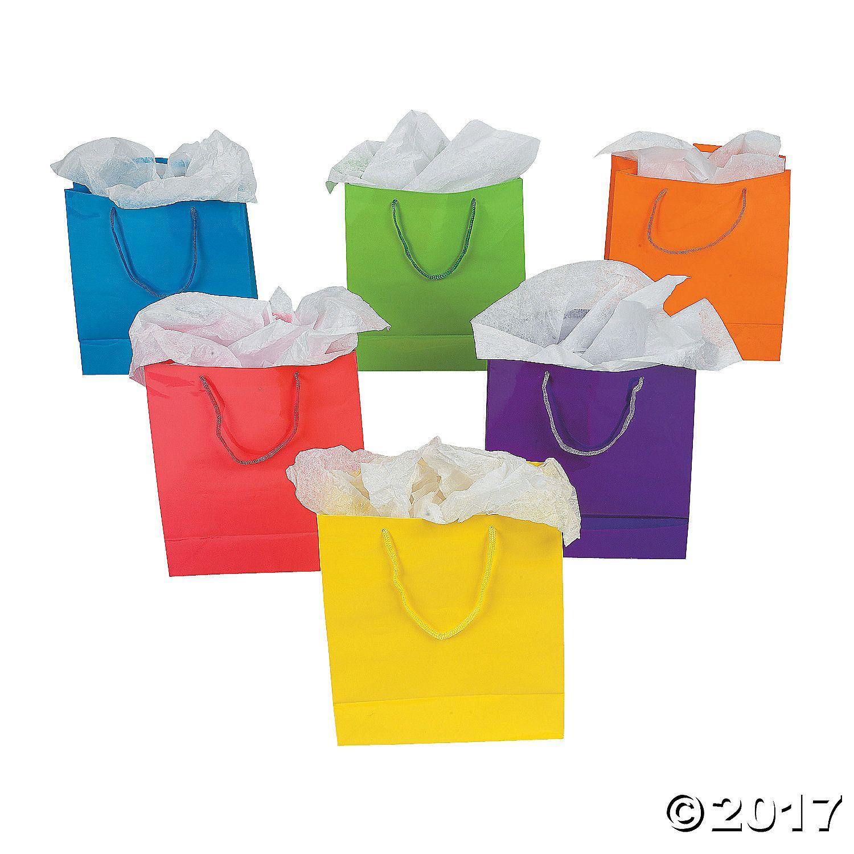 Medium Neon Gift Bags - OrientalTrading.com
