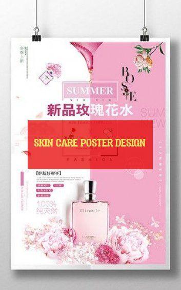 Skin Care Poster Design Hautpflege Plakat Design