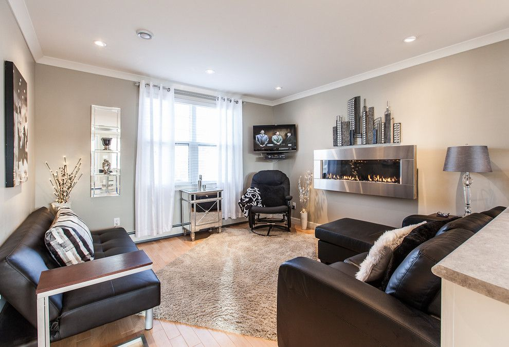 My Houzz: Open Concept Apartment Above Retail In Downtown St. Johnu0027s    Contemporary   Living Room   Other Metro   Becki Peckham