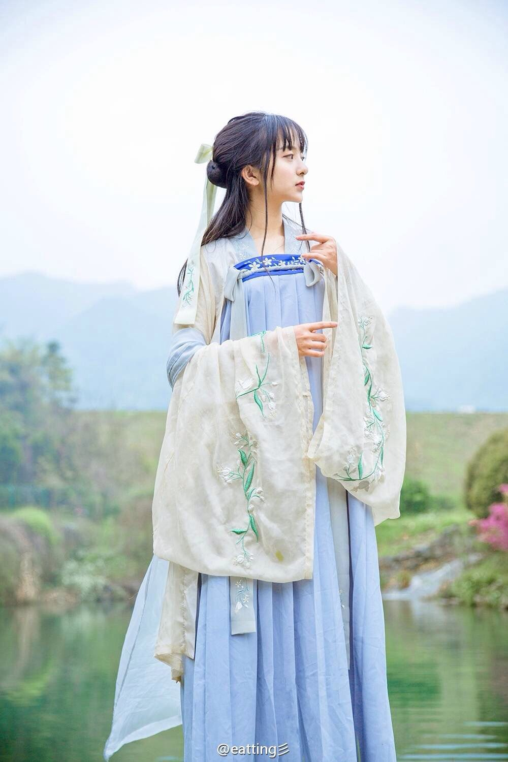 Traditional clothing special style, beautiful girl and