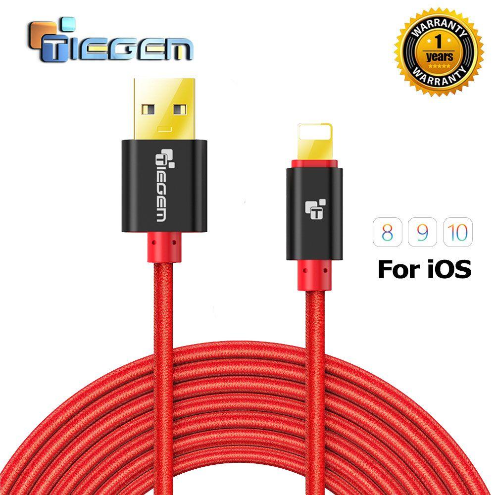 Tiegem schnelle ladegerät adapter usb kabel für iphone 5 s 5 s 6 s 6 ...