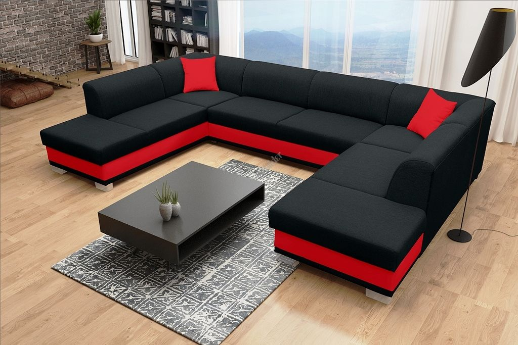 Couchgarnitur Darco Als U Form Mit Schlaffunktion 2 Bettkasten Mit Komfortablem Feder Living Room Sofa Set Living Room Decor Apartment Living Room Sofa Design
