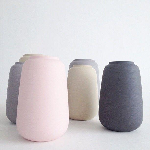 beautiful vases from Ditte Fischer, Copenhagen www.dittefischer.dk