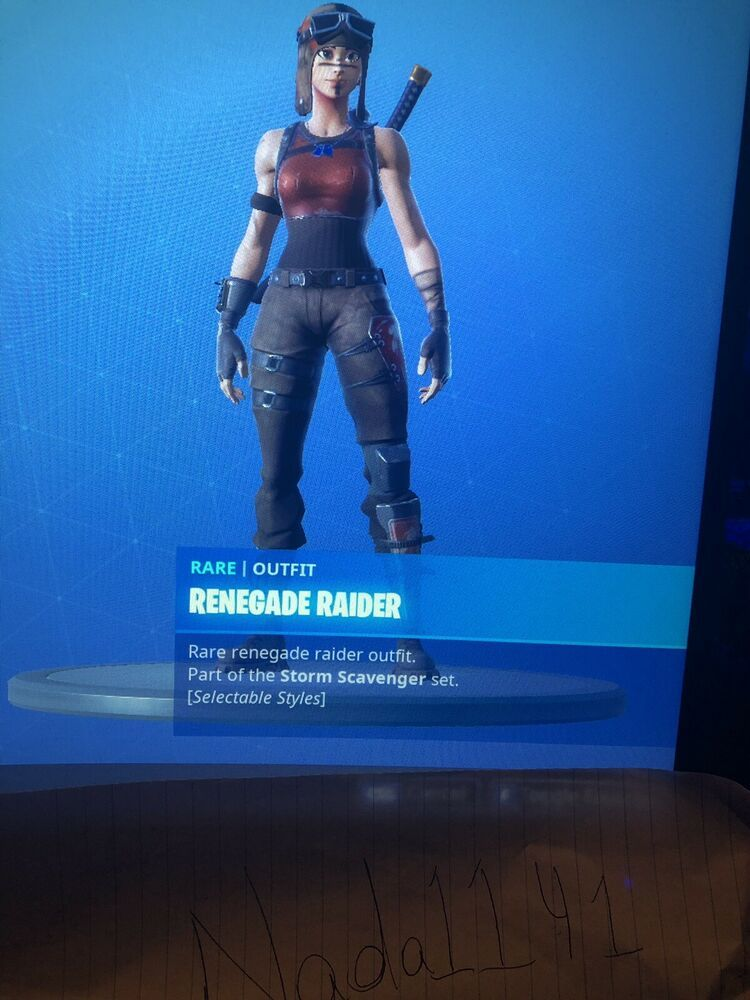 Fortnite Account Renegade Raider Ghoul Trooper Ikonik Skin Skins