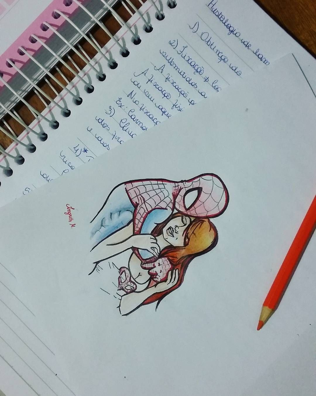 Ginger Desenho pertaining to estudando #spiderman #maryjanewatson #drawing #draw #histologia