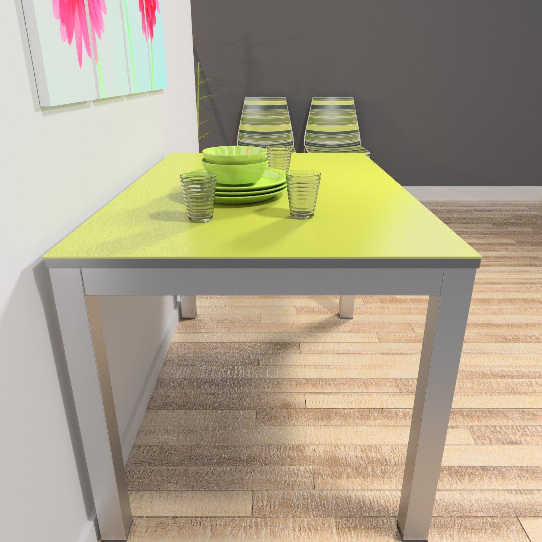 Mesa con encimera en material porcel nico techlam for Mesa 80x80 extensible