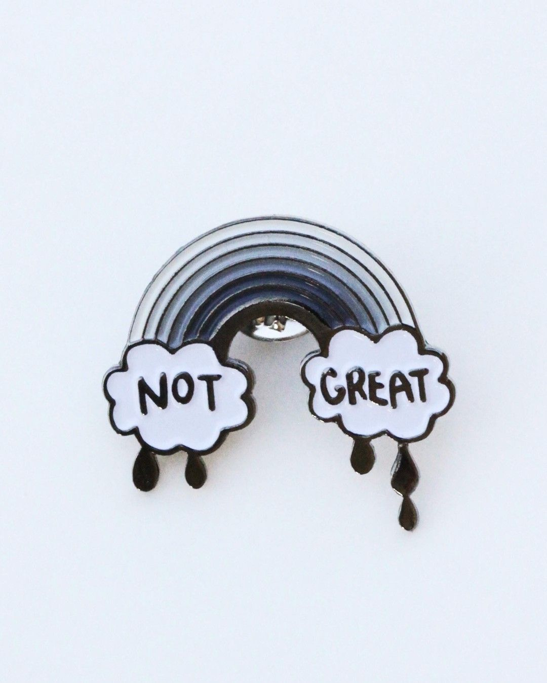 Not Great pin from @bee_and_mae  The emo life!  Buy it through their link in bio!