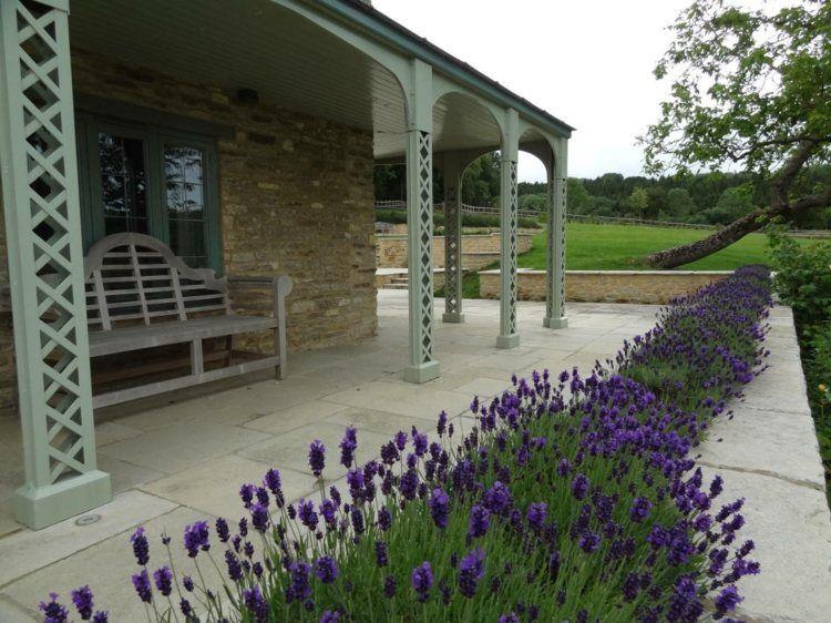 Der Landhaus Garten Kann Mit Lavendel Bepflanzt Werden