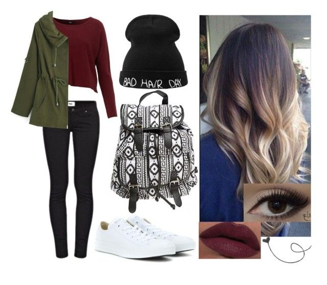 """""""Untitled #277"""" by hampster12 ❤ liked on Polyvore featuring Converse, Paige Denim, Wet Seal and LORAC"""
