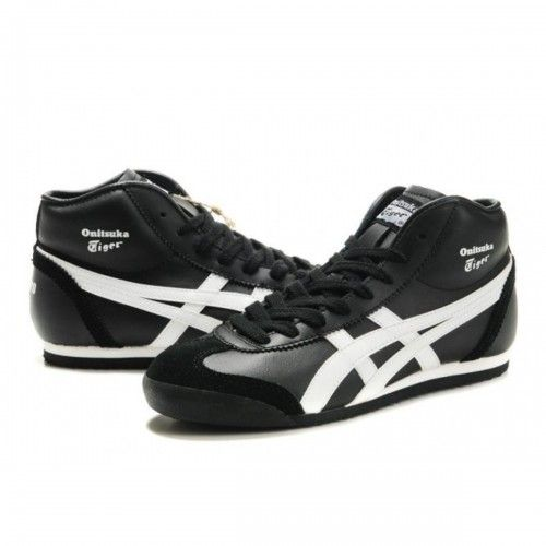 7cf336e02607 2012 Asics Onitsuka Tiger MEXICO 66 High Mens Shoes Black White ...
