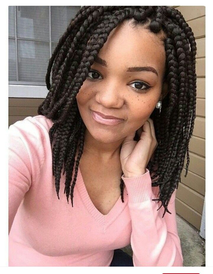 Shoulder Length Box Braids Shoulder Length Box Braids Short Box Braids Hairstyles Braided Hairstyles