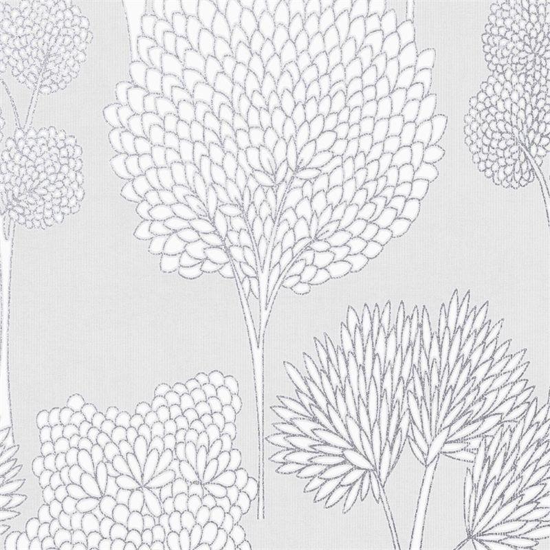Whimsical Silver Wallpaper Silver wallpaper, Wallpaper