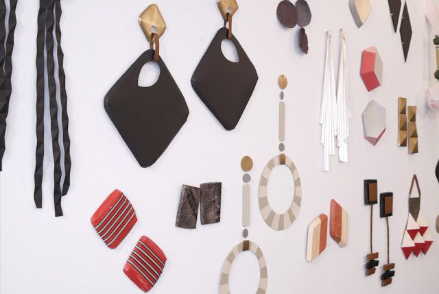 Total Inspiration: paper earrings by anna gleeson
