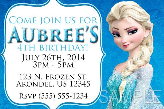 Frozen Party Invitations//Invites or Thank You Notes X20