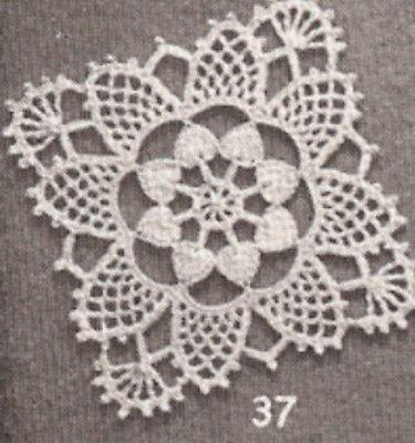 Vintage Crochet PATTERN to make MOTIF BLOCK Bedspread Square ...