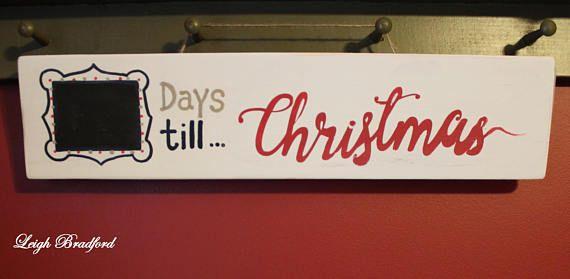 DAYS UNTIL CHRISTMAS sign /Santa wood signs/ Christmas wall decor
