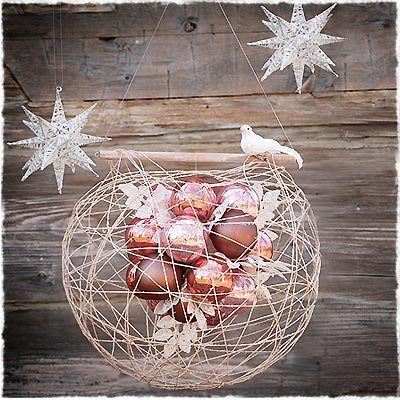 Bellas decoraciones con esferas de hilo figuras para - Figuras navidenas para decorar ...