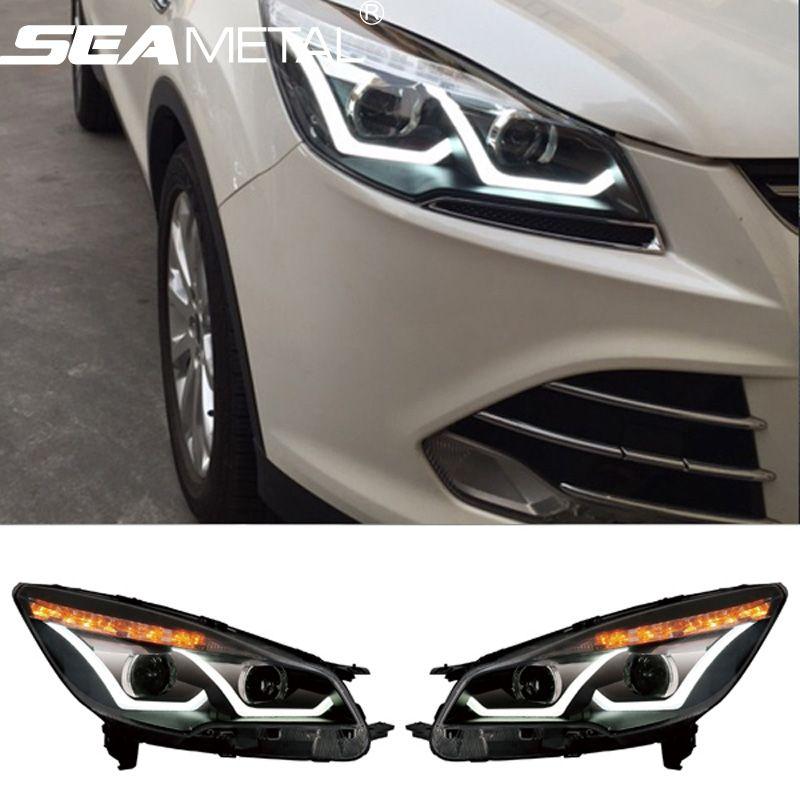 Car Headlight For Ford Kuga Escape 2013 2014 2015 2016 Head Light