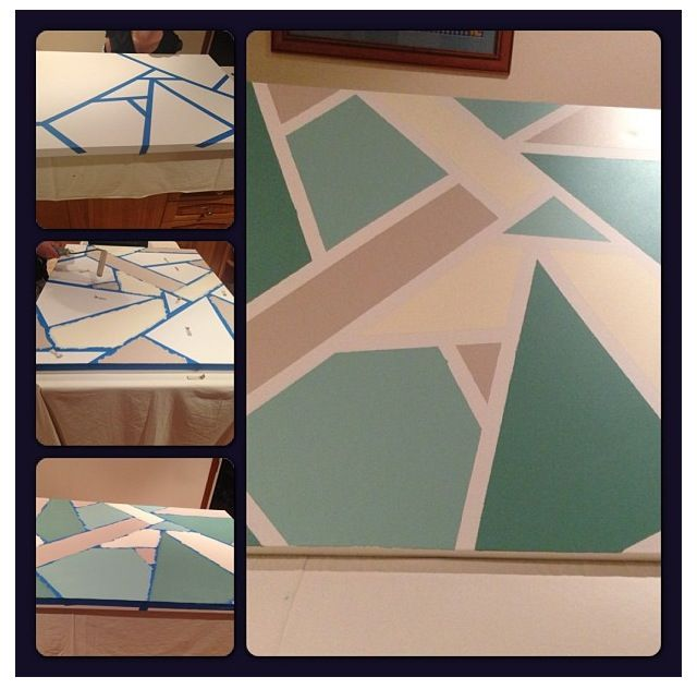 Easy DIY artwork  Would look good with a letter over it.