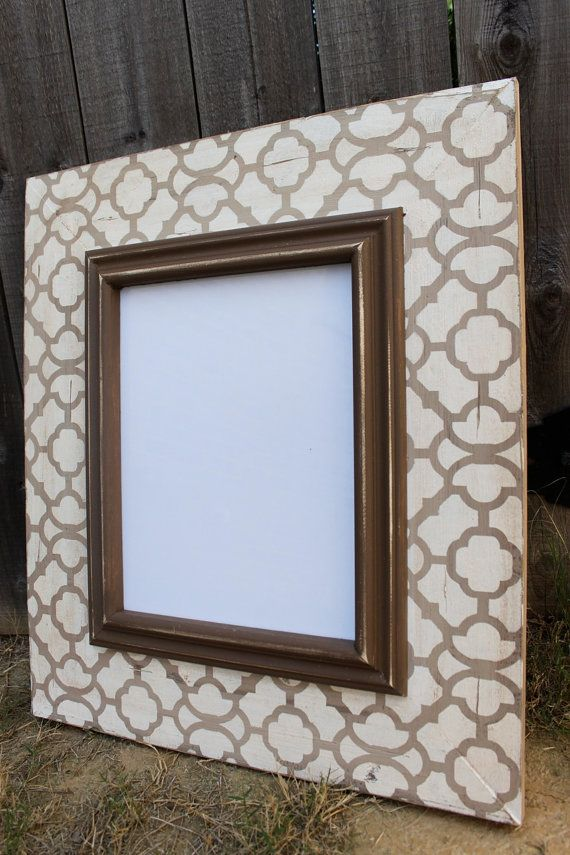 11x14 Moroccan Distressed Wood Picture Frame By Deltagirlframes Picture On Wood Wood Picture Frames Picture Frames