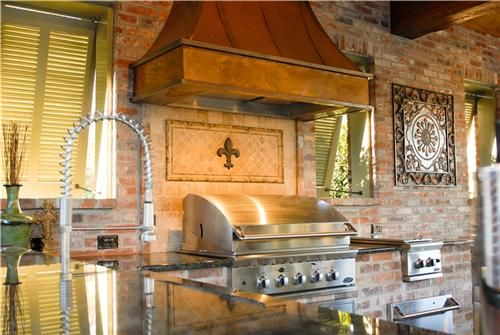 High End Outdoor Kitchen In Louisiana Outdoor Kitchen Outdoor Kitchen Design Luxury Outdoor Kitchen