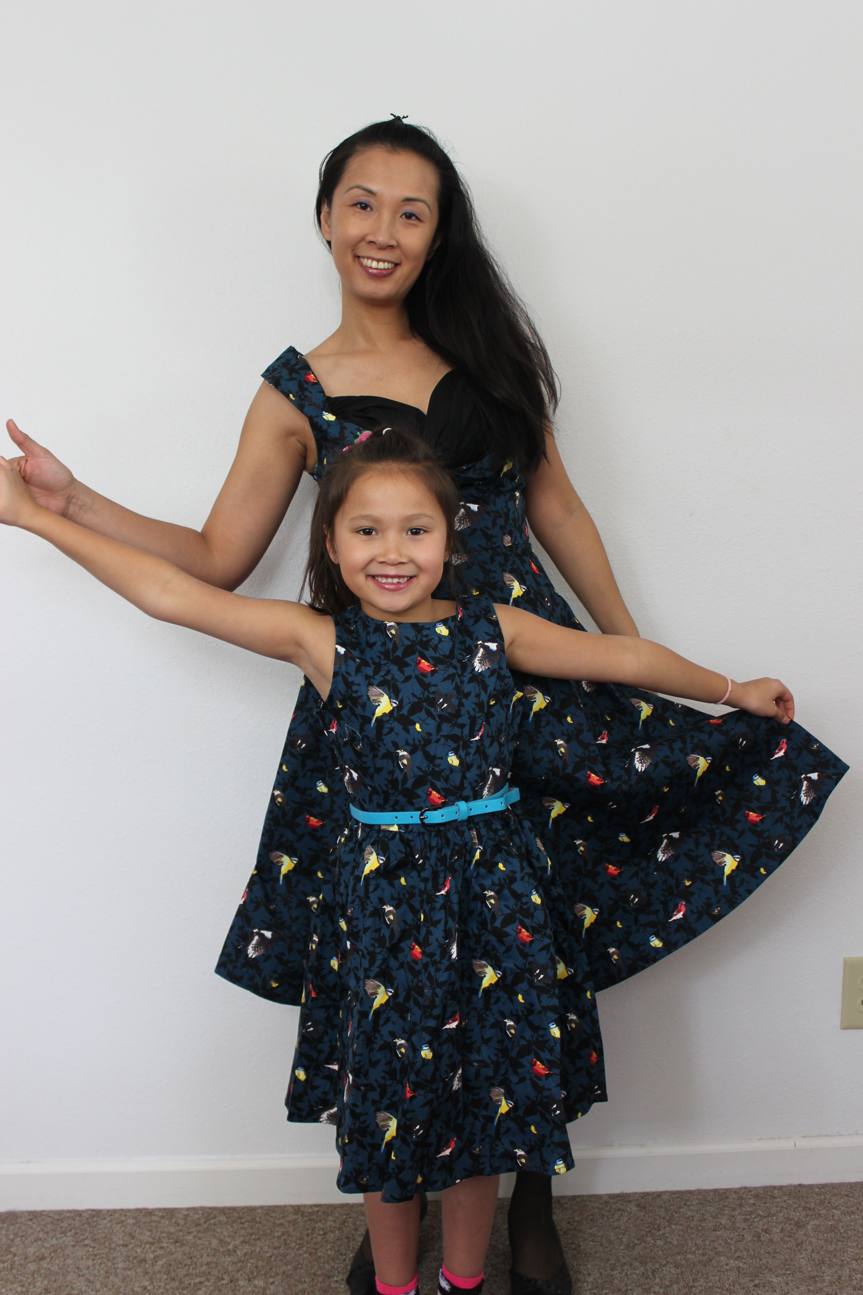 Lindy bop mother daughter dresses mommy ophelia blue