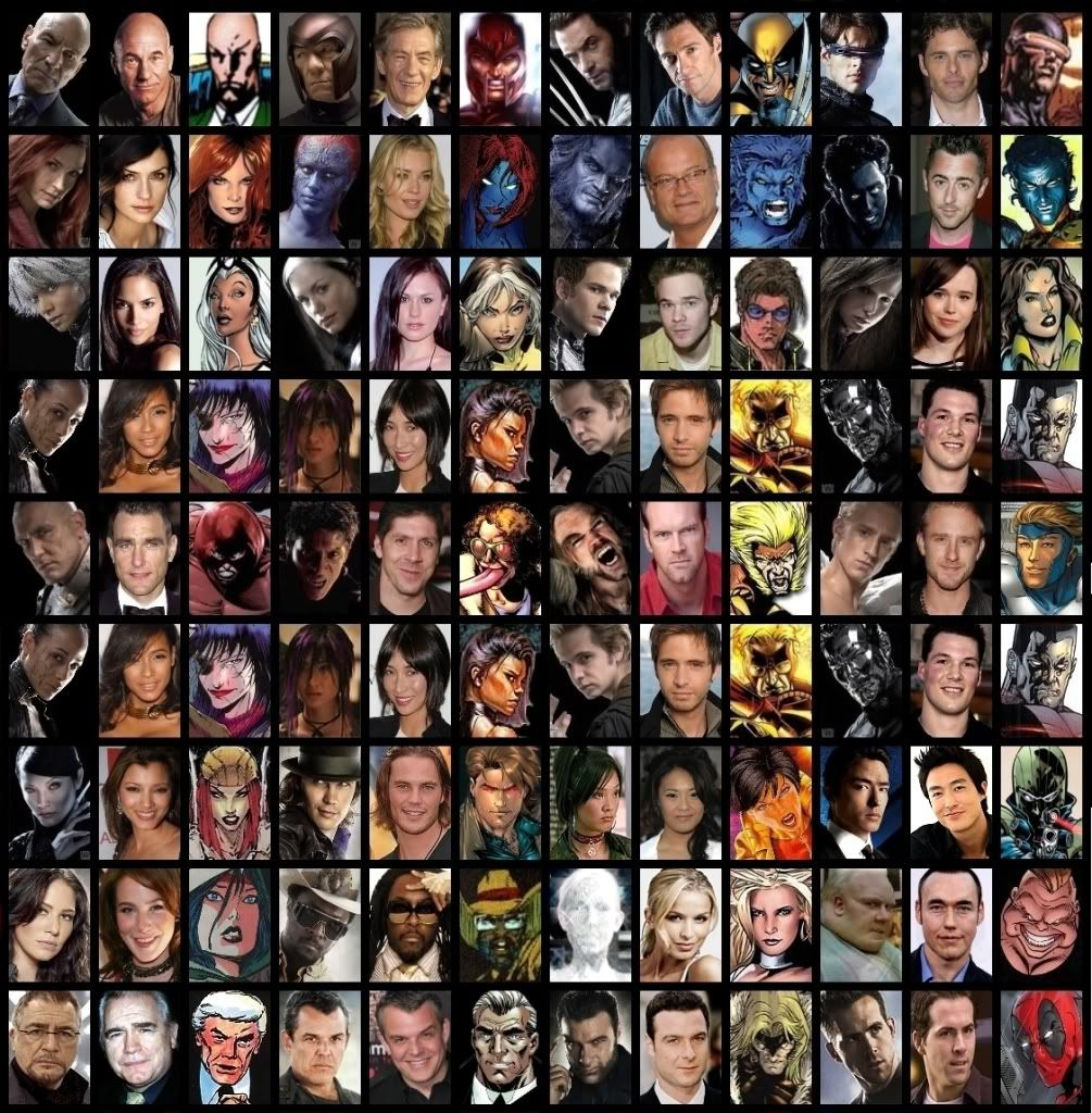 Casts Of Marvel And X Men Characters From W3 By Trivto On Deviantart Marvel X Men Xmen Movie