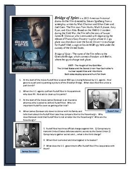 Bridge Of Spies Movie Guide Social Studies High School