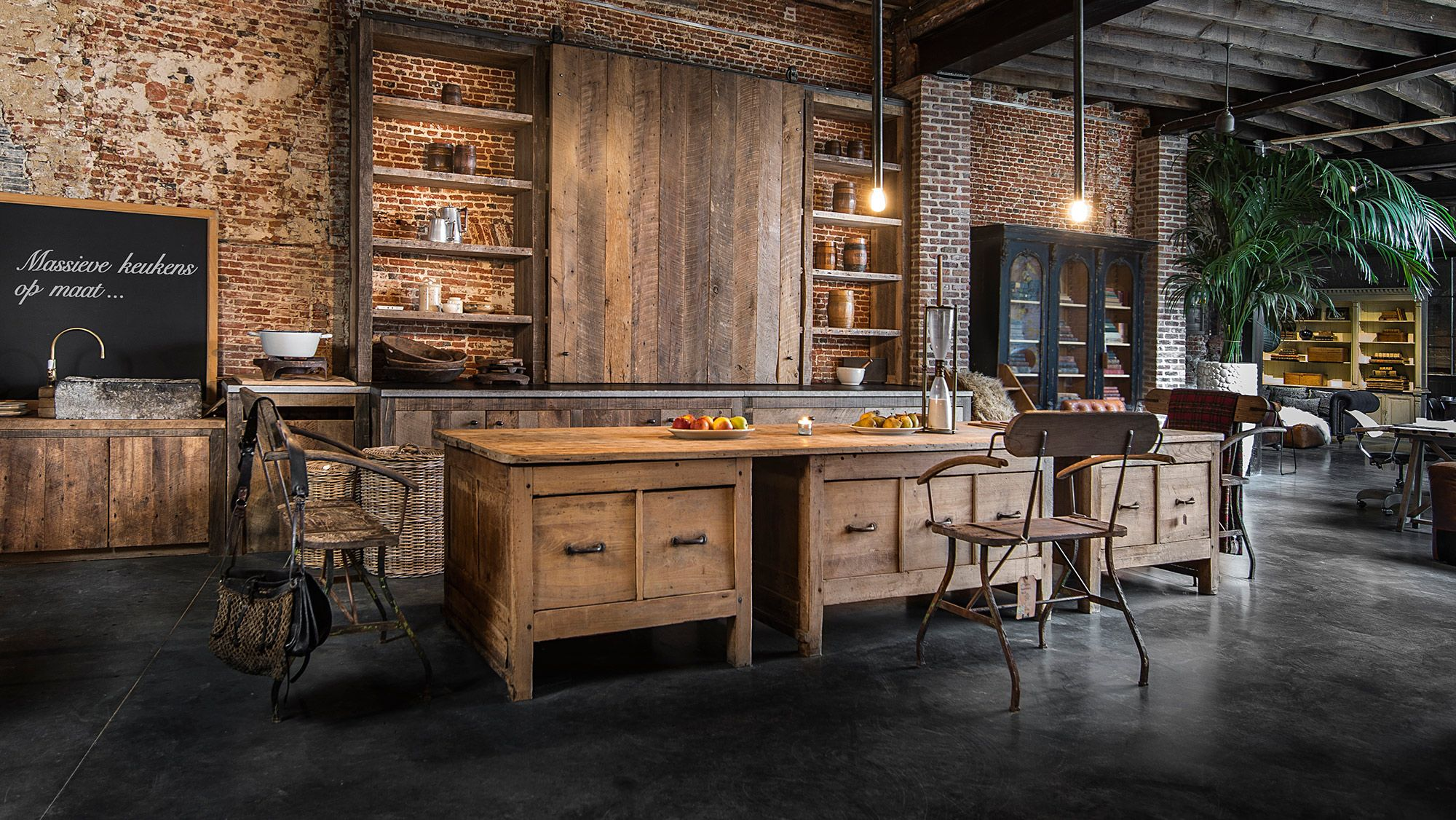 Marchi Group Keuken : Massief eiken houten keuken solid oak kitchen with soft closing
