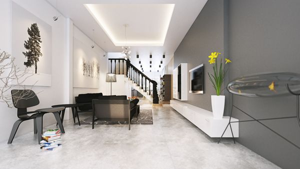 Five Apartments By Koj Design [Visualized] | Living Spaces, Minimalist  Interior And Living Rooms