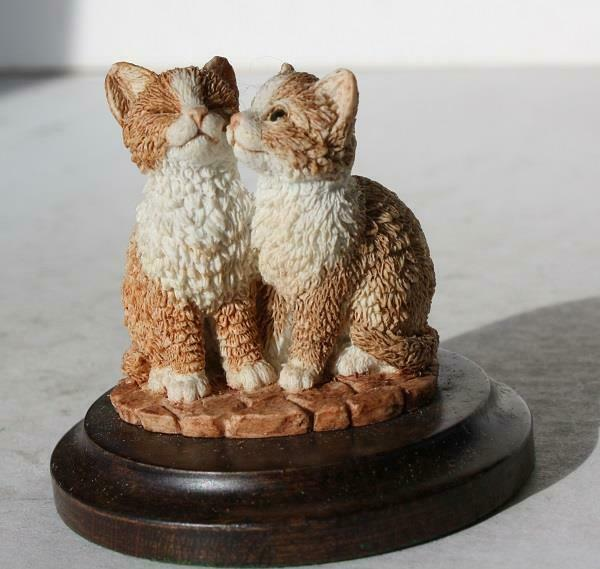 CatKitten Figurine Country Artist For the Discerning