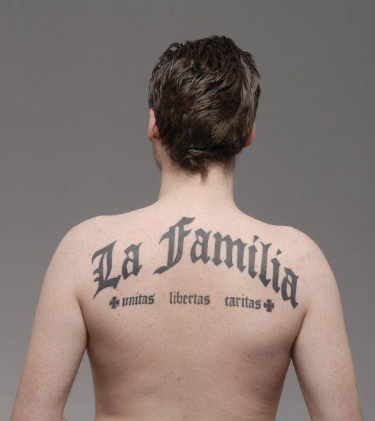 Rücken Tattoo Back Tattoo La Familia Rücken Tattoos Flügel