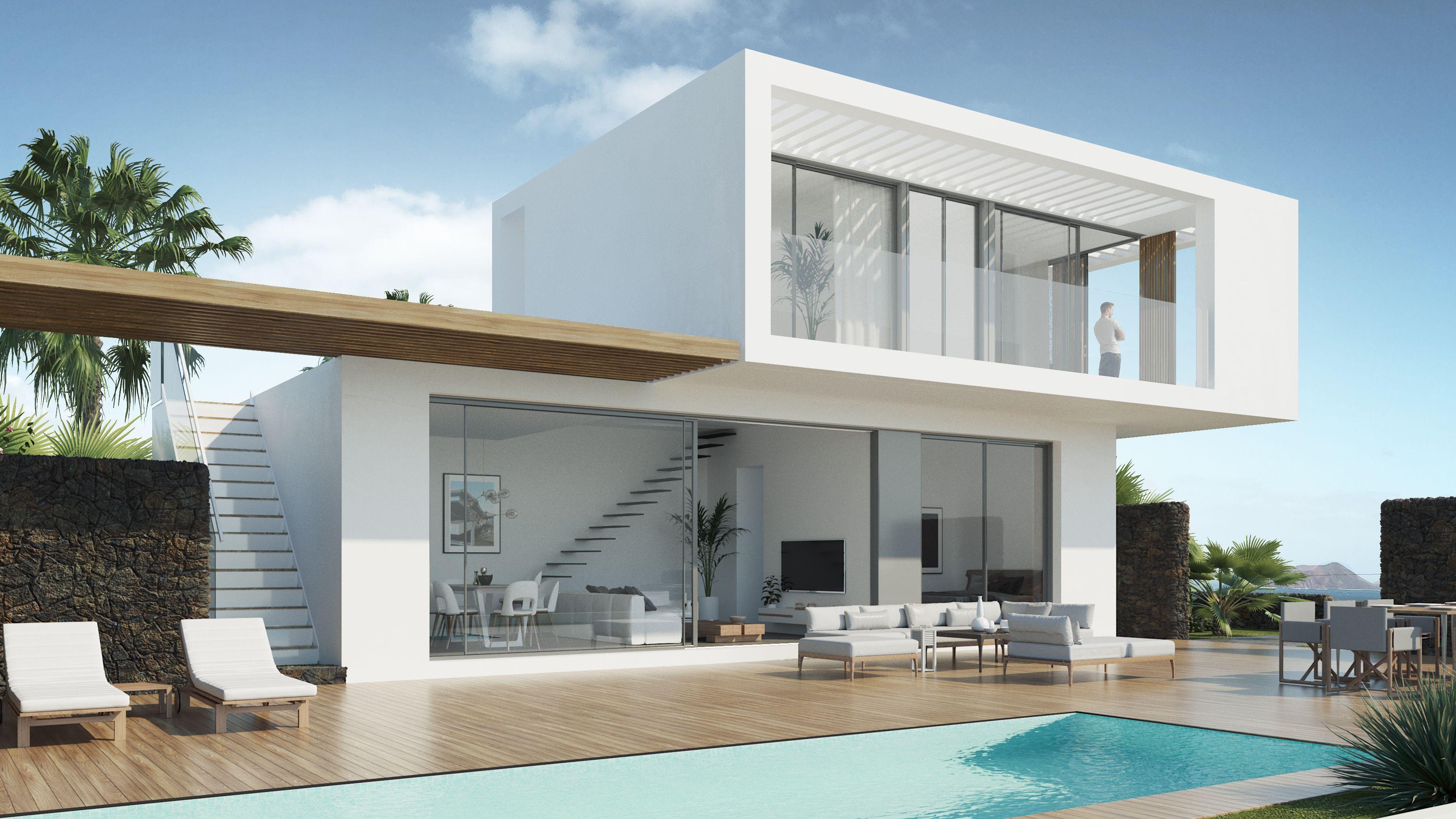 Nuevo proyecto, 4 Viviendas unifamiliares 97 m2, 2D