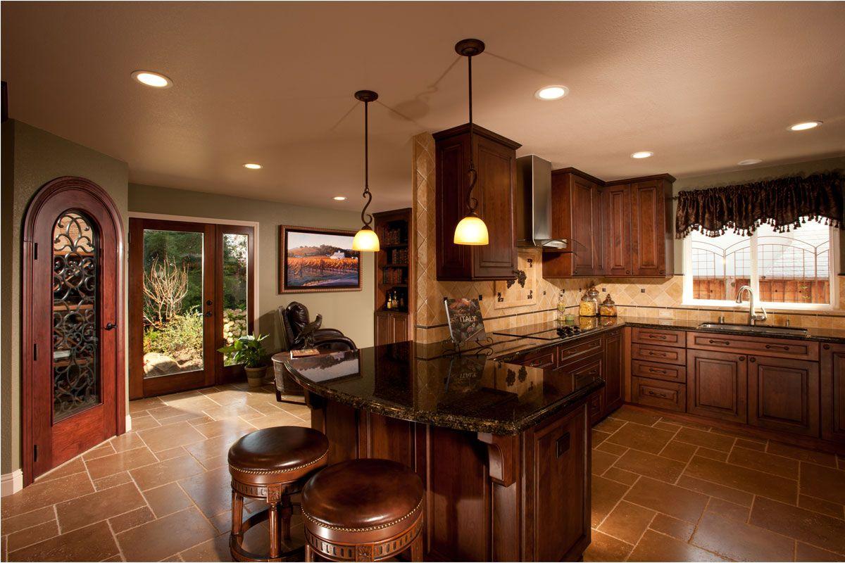 Dark Wood Kitchen Design | Menards kitchen cabinets ...