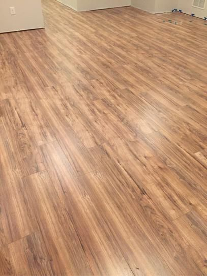 Trafficmaster Lakeshore Pecan 7 Mm Thick X 7 2 3 In Wide X 50 5 8 In Length Laminate Flooring 24 17 Sq Ft Case 35947 The Home Depot Flooring Hardwood Floors Laminate Flooring