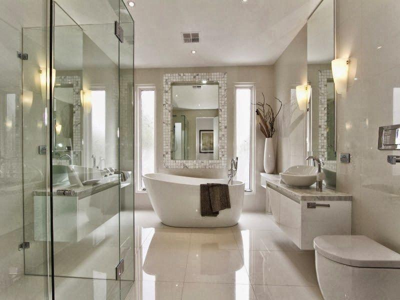 Dise o de ba os con ambiente fresco y renovado http www for Disenos de banos de casas modernas