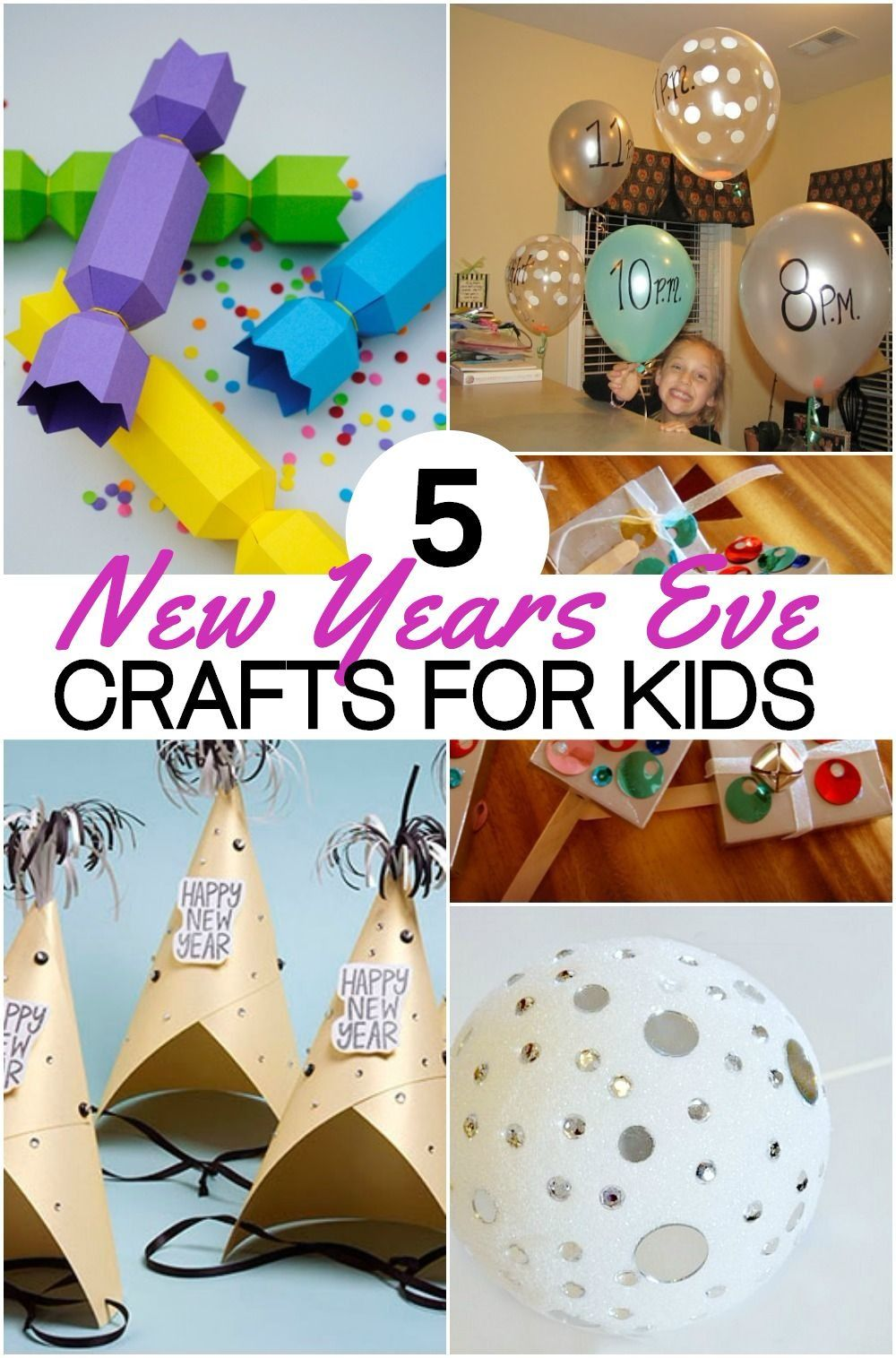 5 Fun New Years Eve Crafts For Kids To Ring In The New Year New Year S Eve Crafts Crafts For Kids Kids New Years Eve