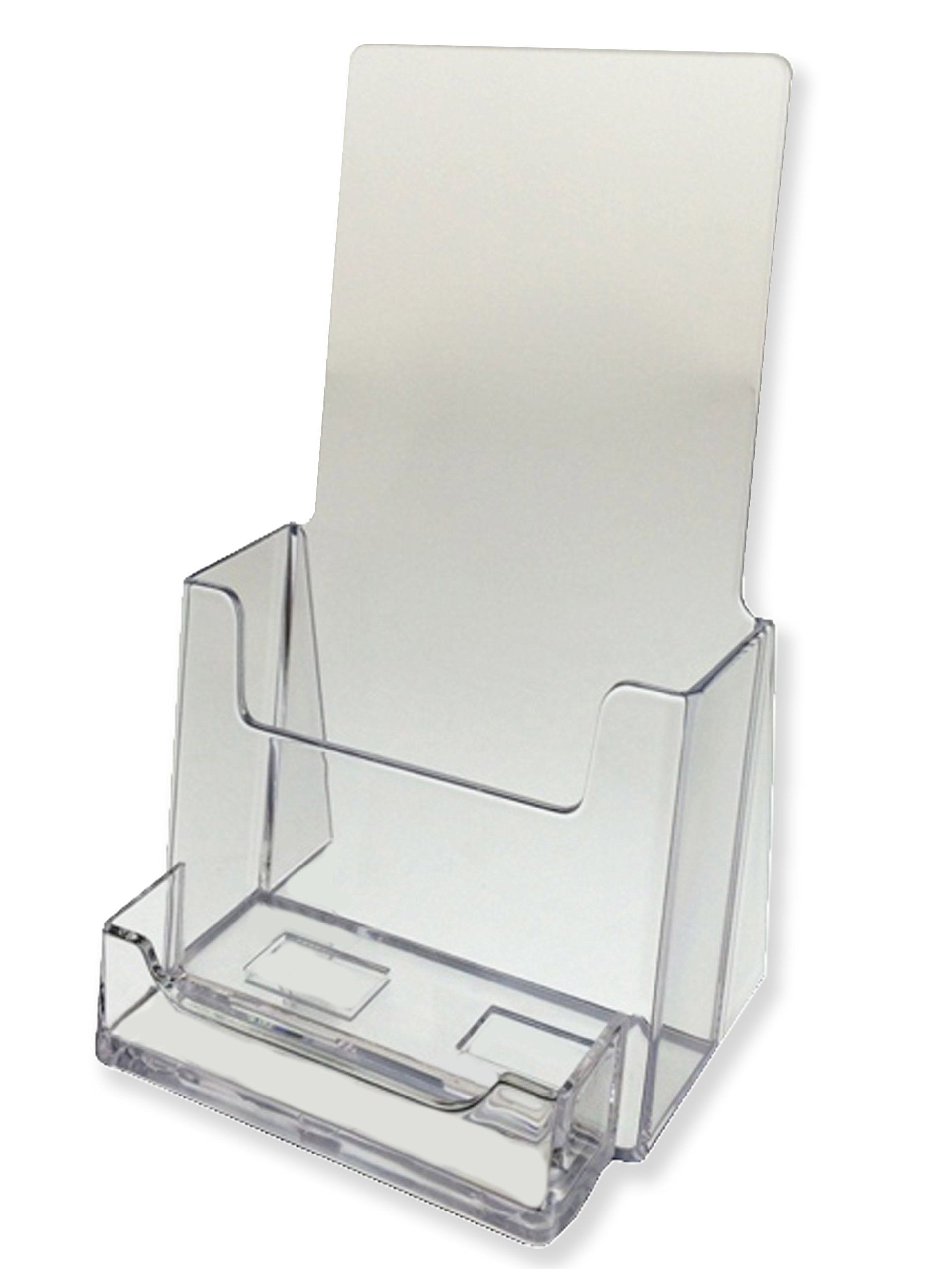 Marketing holders 100 pack clear trifold brochure holders with marketing holders 100 pack clear trifold brochure holders with business card holder colourmoves