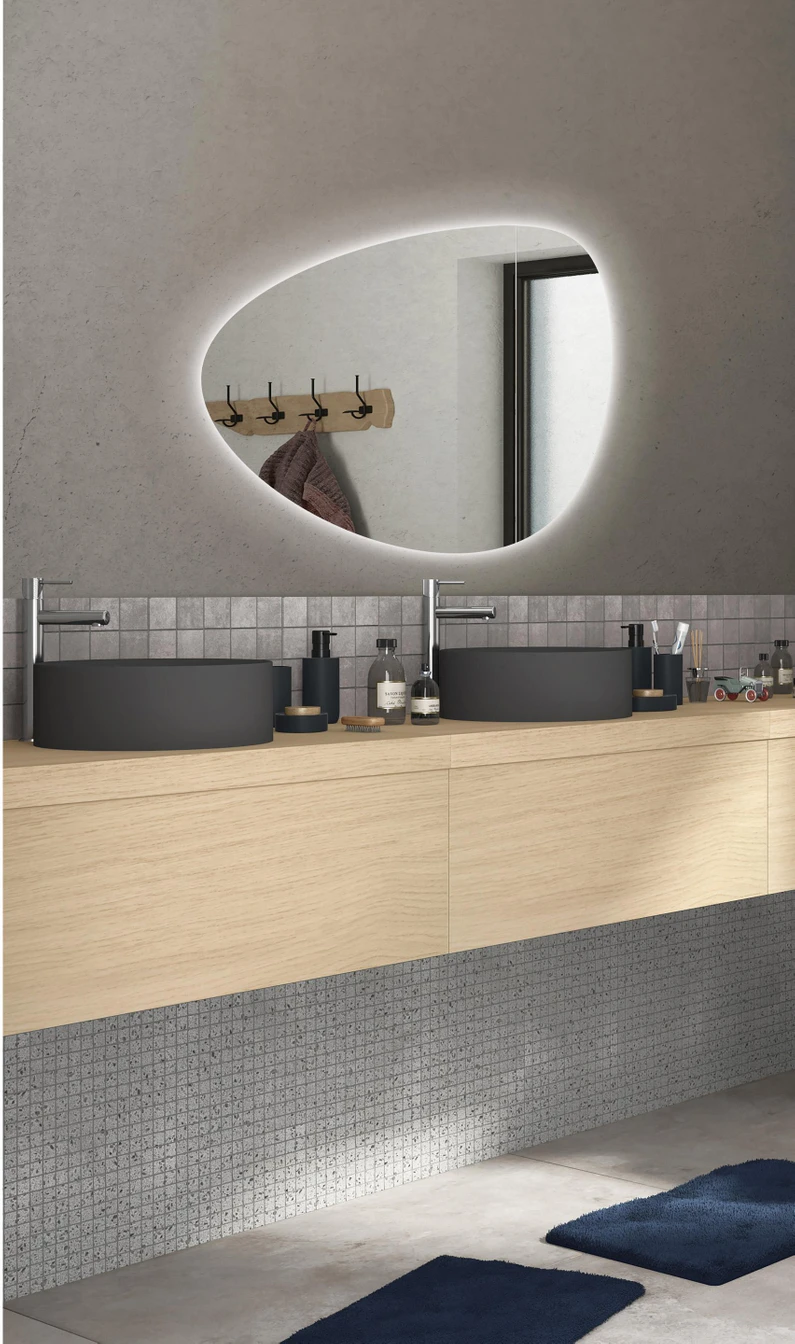 Miroir Eclairant Salle De Bain miroir lumineux avec éclairage intégré, l.80 x h.55 cm gota