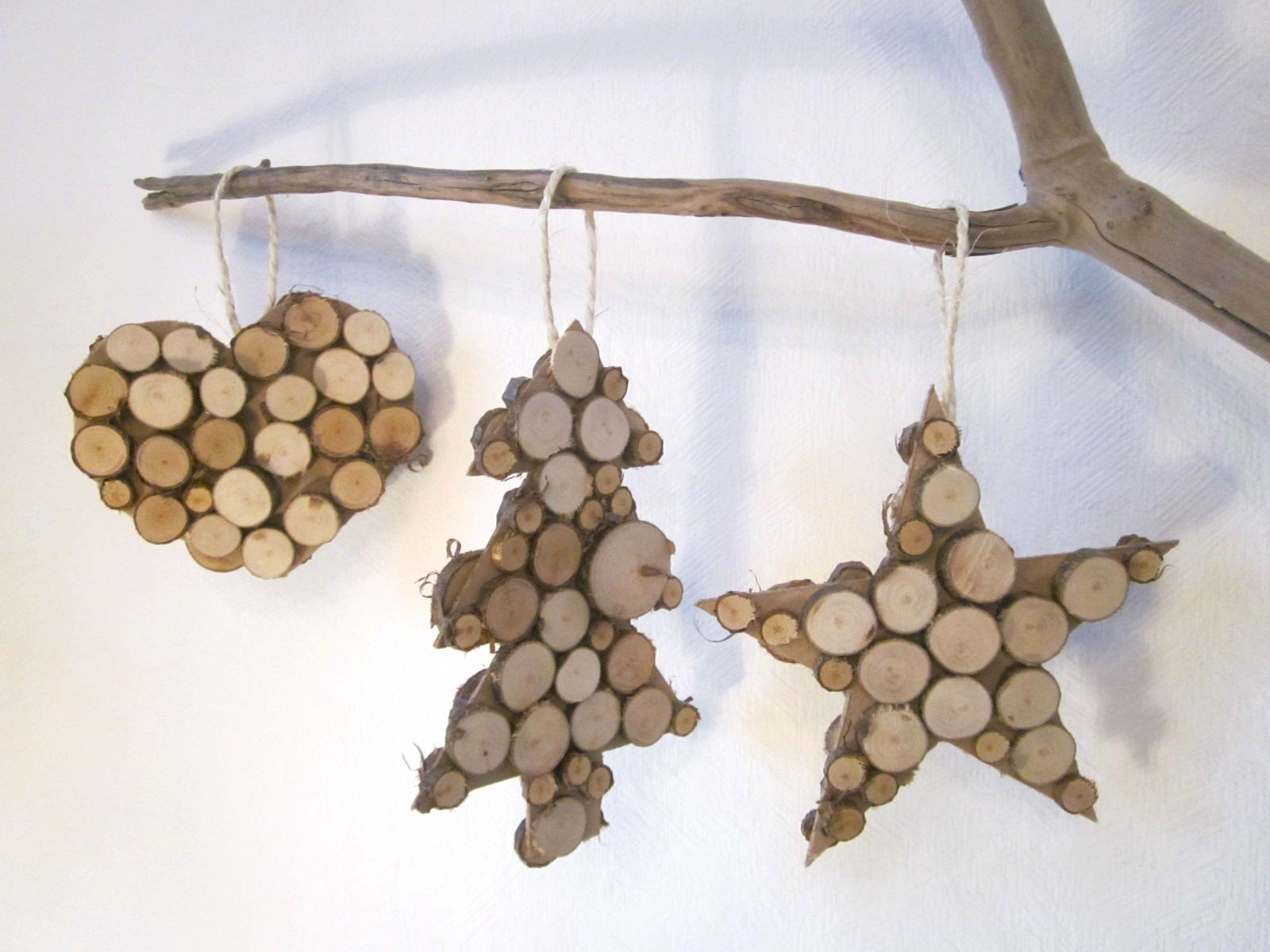 Deco Noel En Bois Naturel diy christmas ornaments, made from branches #nature | noël